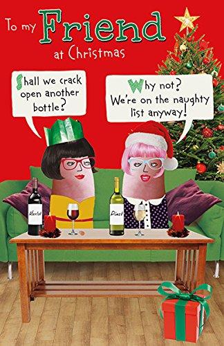 Amazon friend humorous funny wine christmas new greeting card friend humorous funny wine christmas new greeting card m4hsunfo