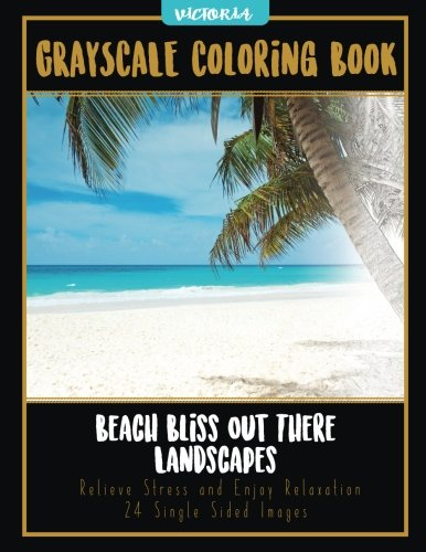 Download Beach Bliss Out There Landscapes: Grayscale Coloring Book Relieve Stress and Enjoy Relaxation 24 Single Sided Images (grayscale coloring books for stress relief & mindfulness) (Volume 15) pdf epub