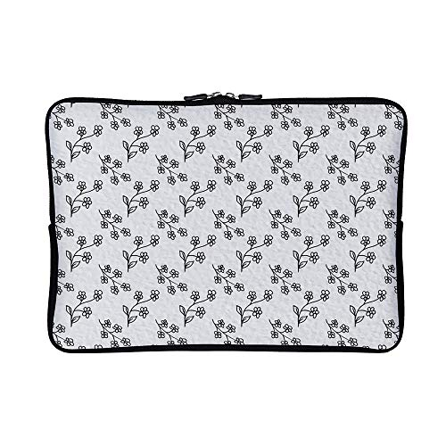 92330809424d DKISEE Abstract Flowers Pattern Neoprene Laptop Sleeve Case Waterproof  Sleeve Case Cover Bag 15 inch for MacBook/Notebook/Ultrabook/Chromebooks