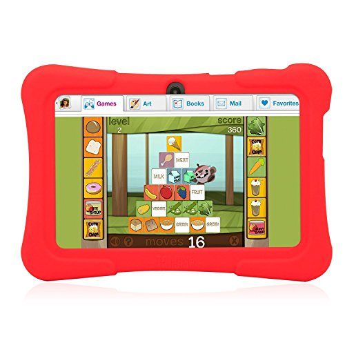 Dragon Touch 7″ Android Kids Tablet – Red Case