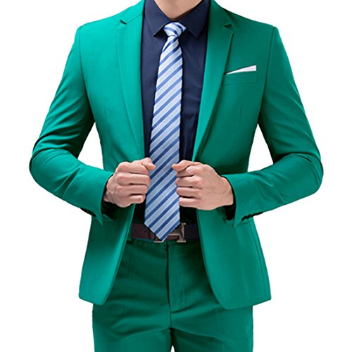 Jearey Mens Blazer Casual Slim Fit Lapel Suit Jacket One Button Daily Business Dress Coat (X-Large, ()