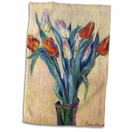 - 3D Rose Print of Monet Painting Vase of Tulips TWL_204112_1 Towel, 15
