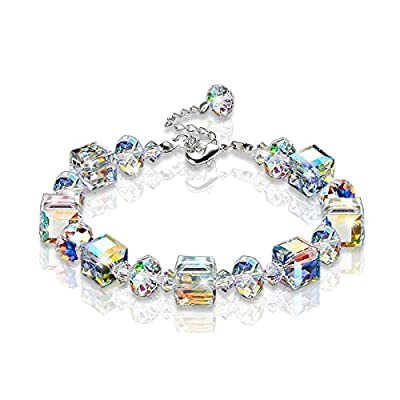 "KesaPlan A Little Romance"" Crystal Stretch Bracelet Mother's Day Gift, Made with Swarovski Crystal hot sale"