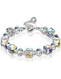 "Bracelet ""A Little Romance"" Adjustable 7"" - 9"" Crystal Stretch Bracelet Made with Swarovski Crystal"