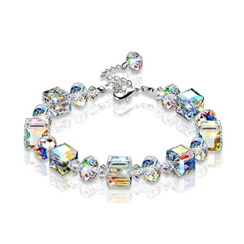KesaPlan Crystal Bracelet A Little Romance Stretch Bracelet Crystals from Swarovski Adjustable 7
