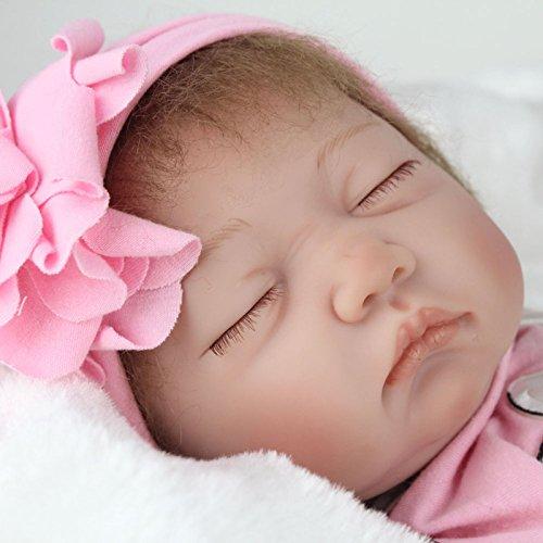 PENSON & CO. 22 Reborn Handmade Baby Doll Girl Newborn Lifelike Soft Silicone Vinyl Sleeping