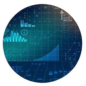 alfombrilla de ratón estadísticas financieras resumen de negocio gráficos por ordenador. - ronda - 20cm