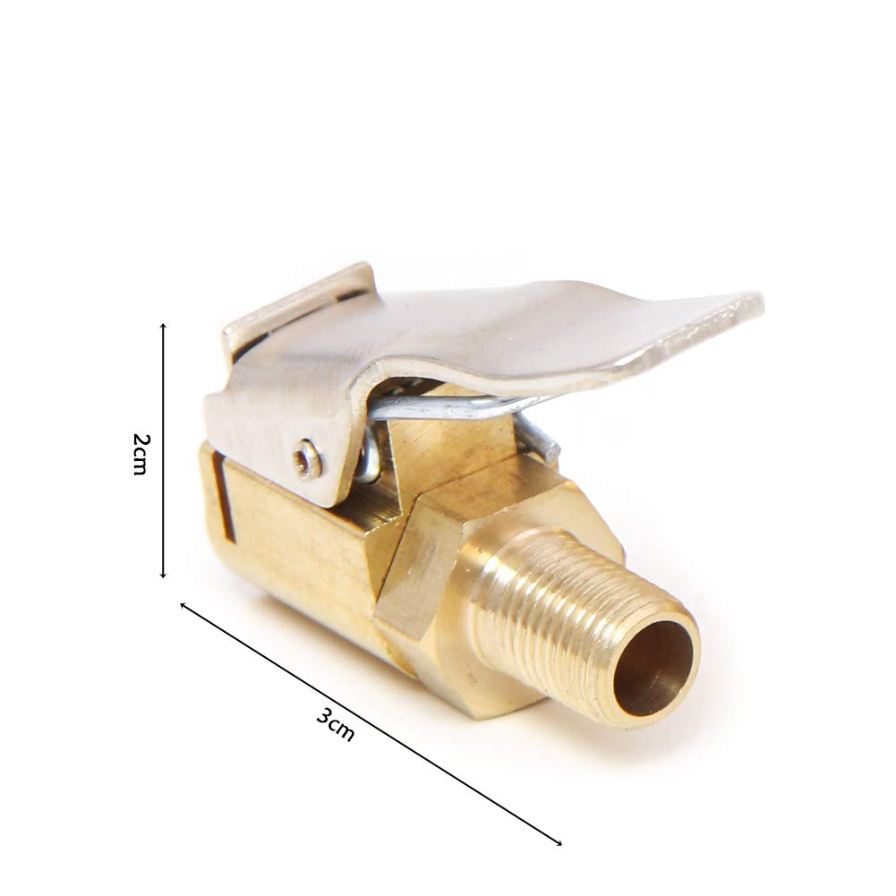 Gewinde D/üse Adapter Auto LKW Reifenf/üller Ventil Stecker Luftpumpe offenes Ende 8 mm Reifenventil Wandou 4 St/ück Messing Reifen-Luftfutter