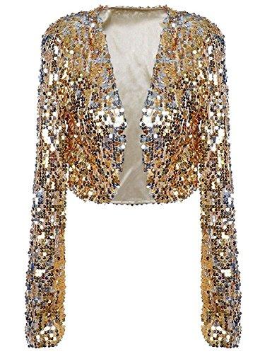 PrettyGuide Clubwear Sparkly Sequin Cardigan