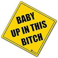 """Calcomanía de seguridad para vehículos Zone Tech """"Baby Up On This Bitch"""",divertida pegatina de seguridad, calidad premium, reflectante, """"Baby Up On This Bitch"""""""