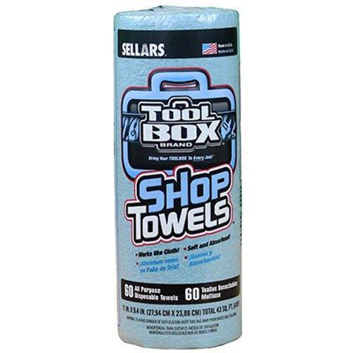 Sellars Wipers & Sorbents Tool60CT BLU Shop Towel