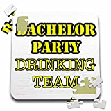Stag,Bachelor Party - Bachelor Party Drinking Team Yellow - 10x10 Inch Puzzle (pzl_261067_2)