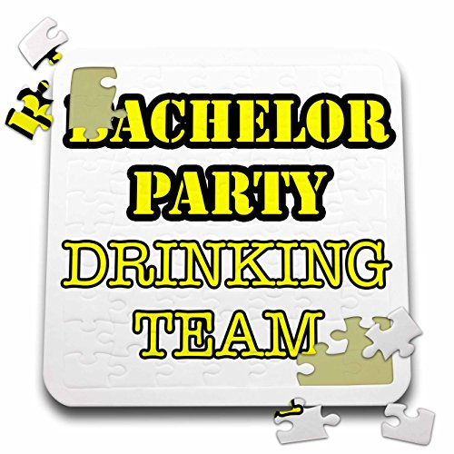 Stag,Bachelor Party - Bachelor Party Drinking Team Yellow - 10x10 Inch Puzzle (pzl_261067_2) by 3dRose