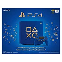 PlayStation 4 Limited Edition Days of Play 1TB Console Gaming Bundle: Pick Your Favorite Games, Controller, PSVR and More