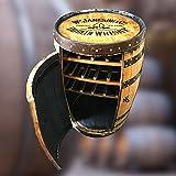 "Recycled Solid Oak Whiskey Barrel Jameson ""Balmoral"" Drinks Wine Rack"