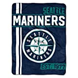 MLB Seattle Mariners Micro Raschel Throw, One Size, Multicolor