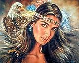 The Guardian Eagle Native American Wall Decor Art Print Poster (16x20)