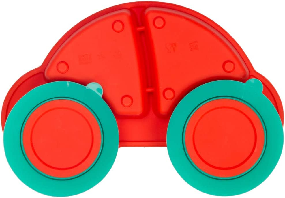 Portable Non Slip Suction Plates for Children Babies and Kids BPA Free FDA Approved Baby Dinner Plate Silicone Divided Toddler Plates