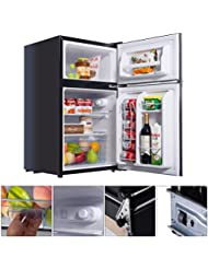 New MTN-G Black 2 Door 3.4 Cu. Ft Compact Refrigerator Freezer CFC Free Furniture Home
