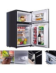 UBRTools Black 2 Door 3. 4 Cu. Ft Compact Refrigerator Freezer CFC Free Furniture Home