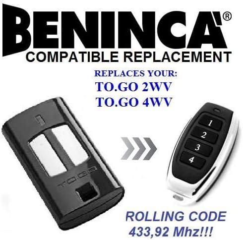LO.T2W neu kompatibel Beninca Versand aus Deutschland 433,9MHz Handsender Fernb.
