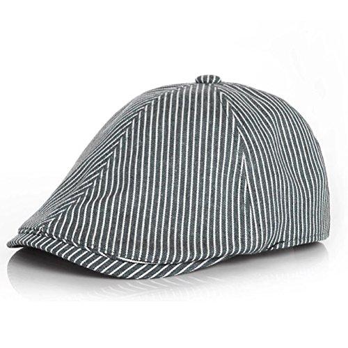 Moon Kitty Baby Boy Cotton newsboy Cap Adjustable Pinstripe Hat Driving Hat Golf (Cap Hat Pin)