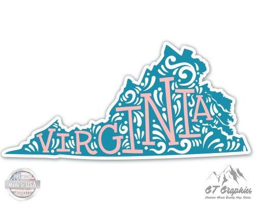 (Virginia Shape Cute Letters Native Local - 5