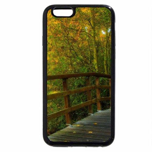 iPhone 6S / iPhone 6 Case (Black) wooden park bridge hdr