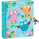 Secret Diary, Hardcover - Sweet Owl Friends - 200 Pages with Lock and Key