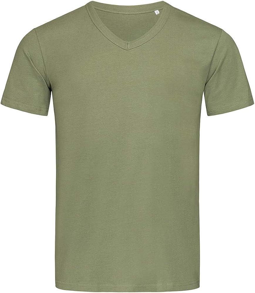 Stedman estrellas ST9010 para hombre Ben camiseta de cuello de pico verde militar XXL: Amazon.es: Ropa y accesorios