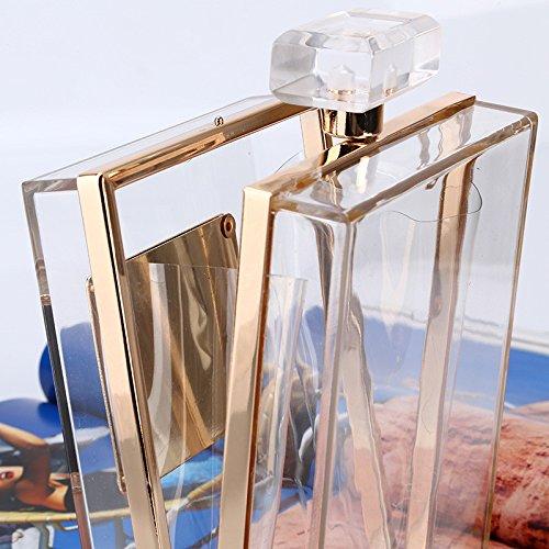 Vestido Conejo Única De Pequeña Precioso Transparente Bolsa Mano Bolsa Noche Crossbody Forma Transparente Perfume Bolso Señora Transparente color Fuerza Casual La Bolso La Con Embrague De Botella q77wrd