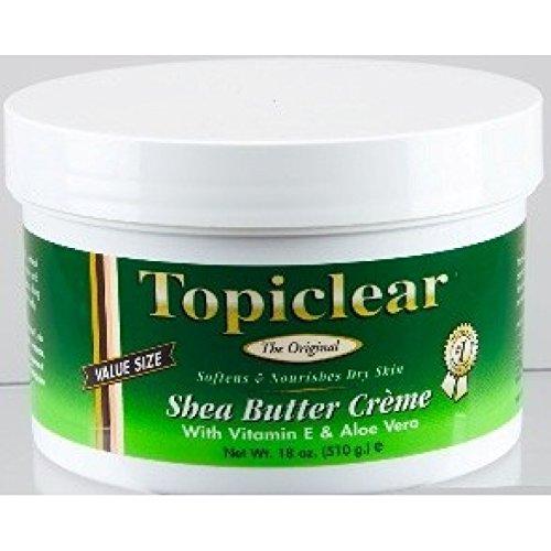 Topiclear Shea Butter Creme with Vitamin E & Aloe Vera 18 oz