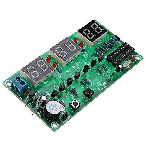 Quickbuying 1PCS DIY Kits AT89C2051 Electronic Clock Digital Clocks Suite DC5V-12V 106mmx55mm Digital Tube LED Display Suite Electronic Modules