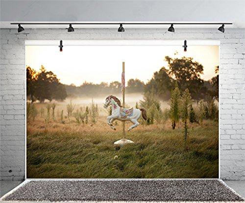 Leyiyi 5x3ft Photography Background Vintage Fairy Tale Unicorn