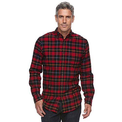 Croft & Barrow Men's True Comfort Plaid Classic-Fit Flannel Button-Down Shirt (X-Large) from Croft & Barrow