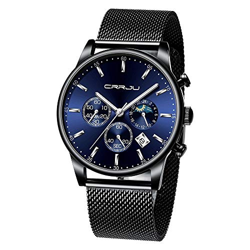 HunYUN Men's Watches Luxury Top Brand Quartz Chronograph Watch Fashion Designer Business Classic Sports Wrist Watch ()