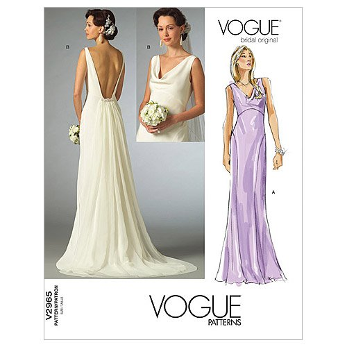 Vogue Patterns V2965 Misses' Dress, Size F (16-18-20)