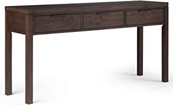 Hollander Solid Wood 60 in. Wide Modern Contemporary Wide Console Table