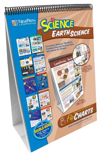 NewPath Learning 10 Piece Mastering Middle School Earth Science Curriculum Mastery Flip Chart Set, Grade 5-9