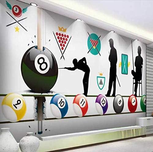 HYF Wallpaper Rollos De Papel De Pared del Billar Club 3D ...