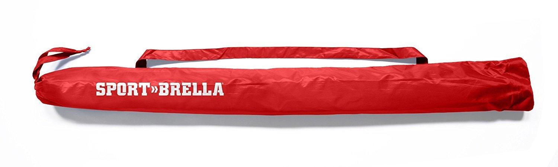 Sport-Brella Vented SPF 50+ Sun and Rain Canopy Umbrella for Beach and Sports Events (8-Foot, Red)
