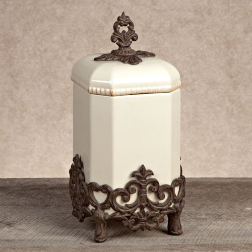 GG Collection Medium Provenical Canister with Metal Base