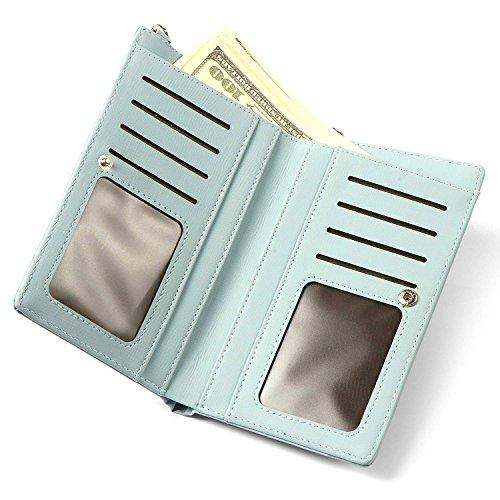 Mobil Girls Mini pelle tracolla Porta carte a verde fiori in Hmilydyk a Portafoglio Borsa borsa wPIPdq