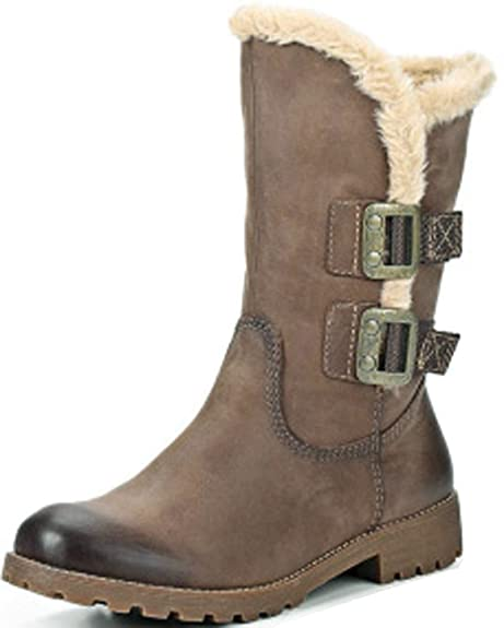 sale retailer e0de5 cbf71 Tamaris Leder warmes Fell Gefütterte Winter Boots: Amazon.de ...