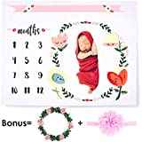 CAVN Baby Monthly Milestone Blanket Photography Props...