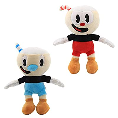 Moovi 2 PCS/Set Cuphead & Mugman Plush 9.8''(25cm) Figures: Toys & Games