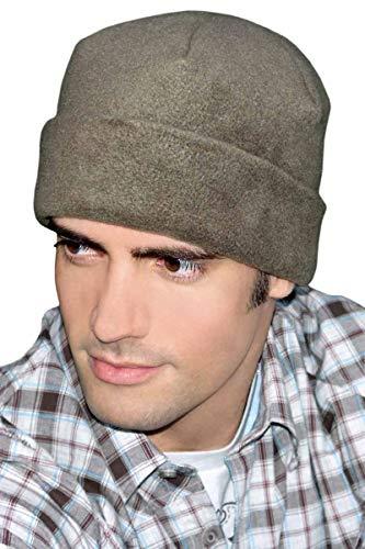 Fleece Cuffed Sleep Cap for Men | Warm Night Caps | Sleeping Hats Slouchy Beanie