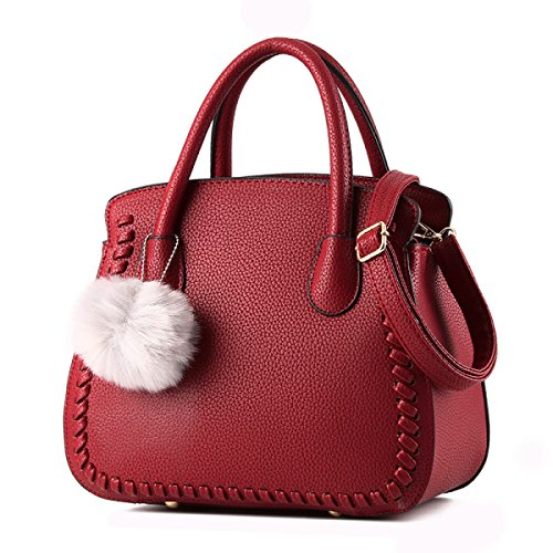 Wu Zhi Señoras PU mochilas Bolsos De Hombro Red
