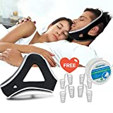 Anti Snoring Chin Straps,Ajustable Stop Snoring Solution Snore Reduction Sleep Aids with Nose Vent,Anti Snoring Devices Snore Stopper Chin Straps for Men Women Snoring Sleeping Mouth Breathers