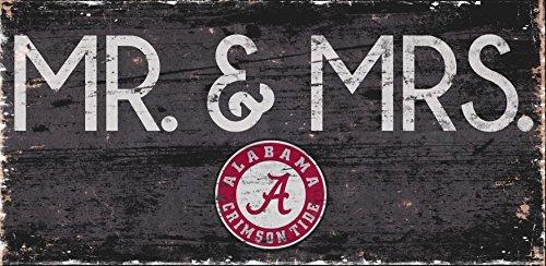 - Fan Creations Alabama Crimson Tide Mr. & Mrs.6x12 Wooden Sign
